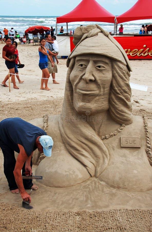 De Dag van het zandkasteel op Eiland IV van de Aalmoezenier van het Zuiden royalty-vrije stock foto