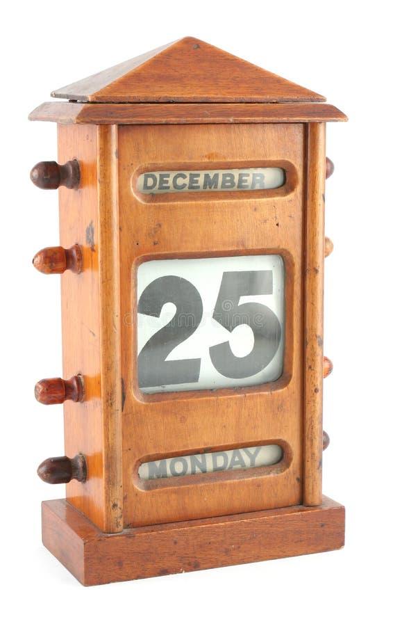 De dag van Kerstmis op kalender royalty-vrije stock foto's