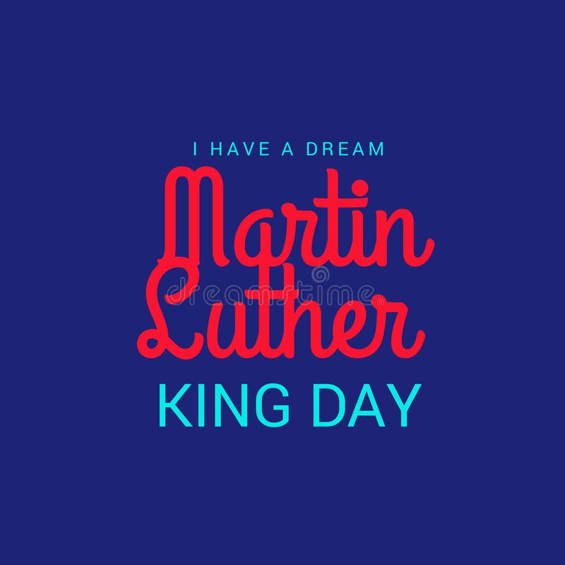 De Dag van Martin Luther King vector illustratie