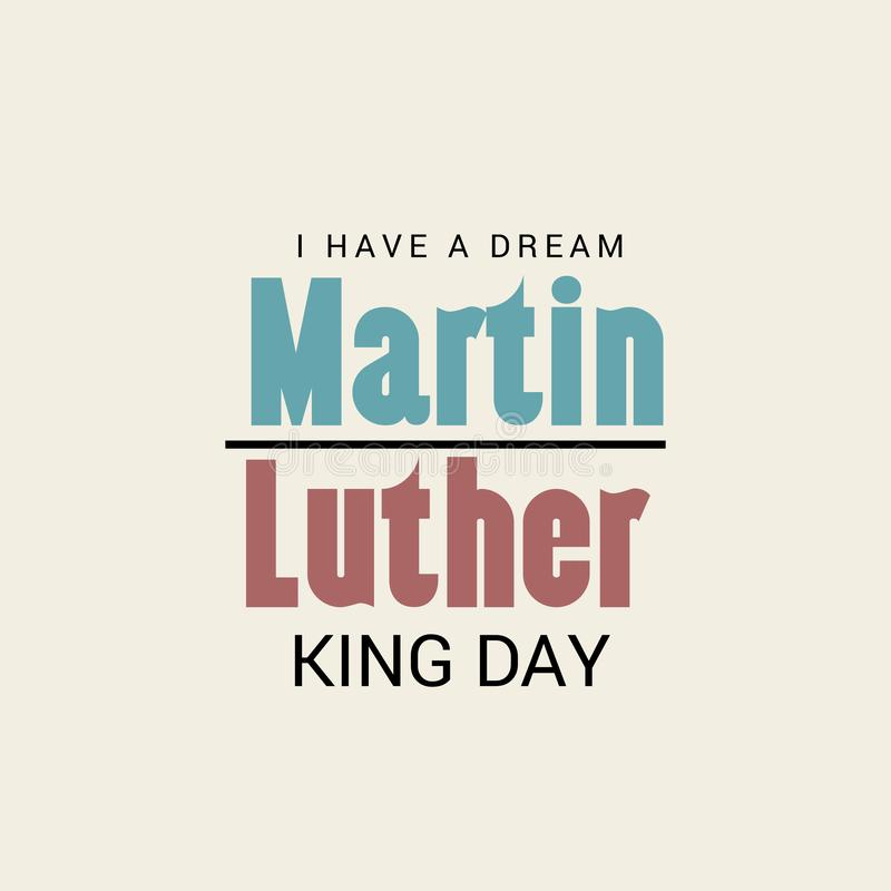 De Dag van Martin Luther King stock illustratie