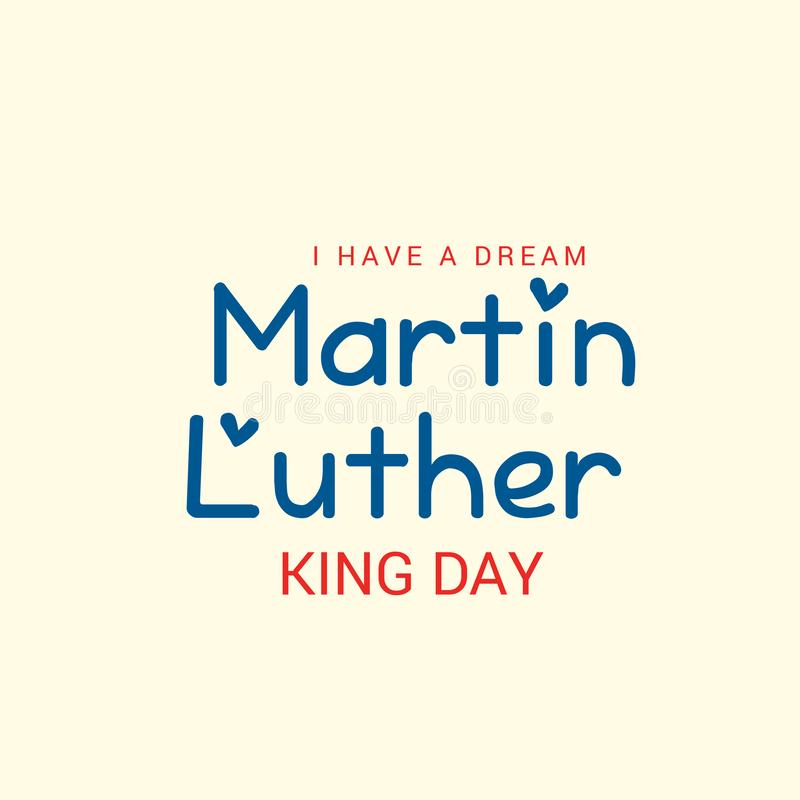 De Dag van Martin Luther King royalty-vrije illustratie