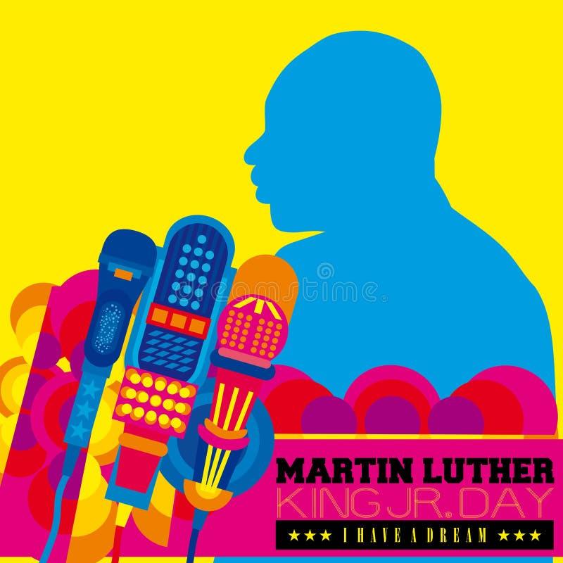 De Dag van Martin Luther King vector illustratie