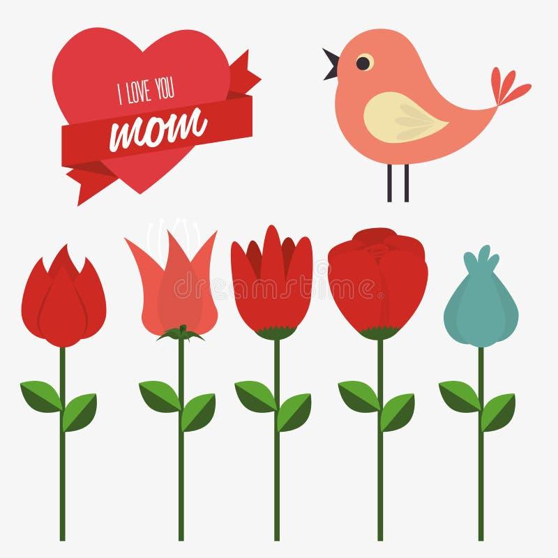 De dag van moeders vector illustratie