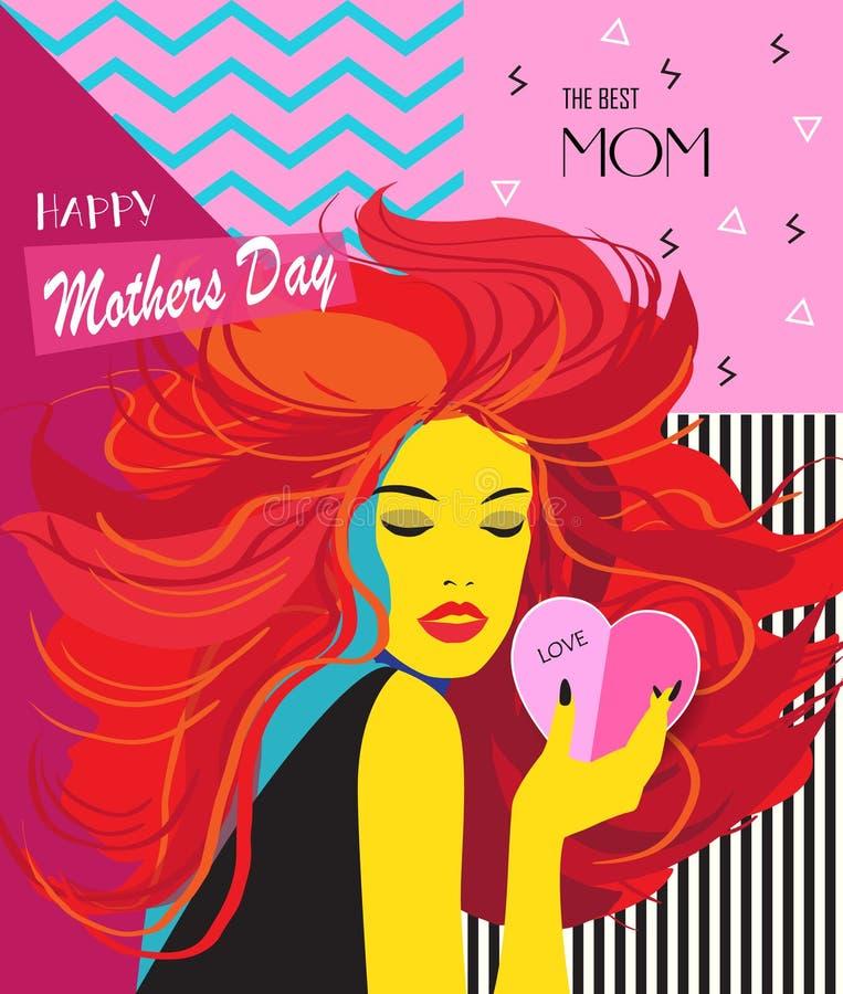 De dag van moeders royalty-vrije illustratie