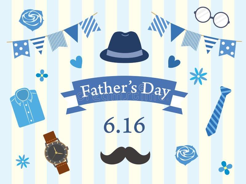 De dag van de vader `s vector illustratie