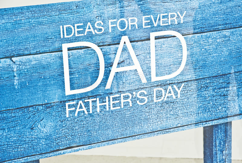 De dag van vaders stelt voor.