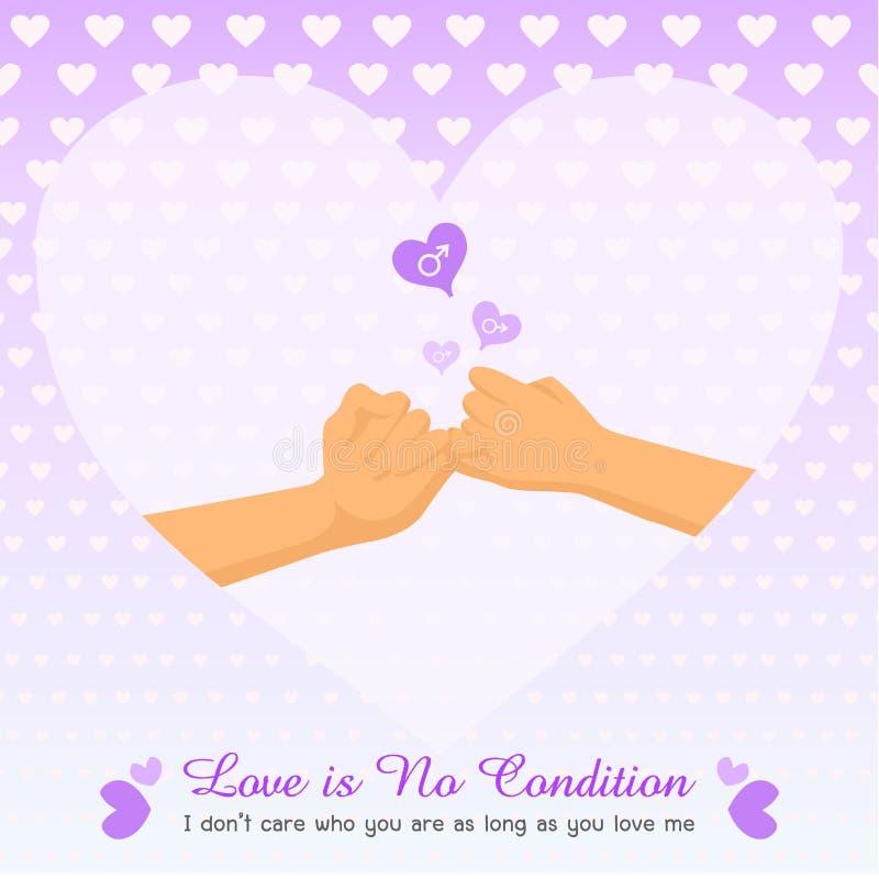 De dag van de valentijnskaart `s stock illustratie
