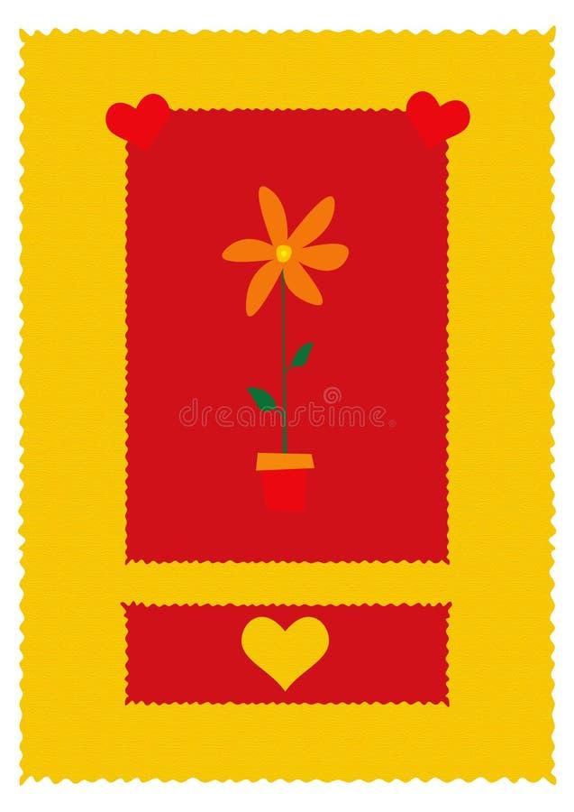 De dag van valentijnskaarten royalty-vrije illustratie