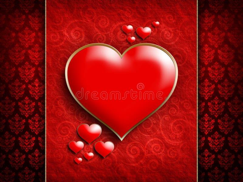 De Dag van Valentine - achtergrond van groetkaart vector illustratie