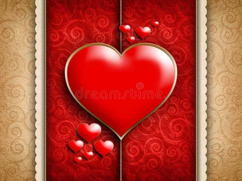 De Dag van Valentine - achtergrond van groetkaart stock illustratie