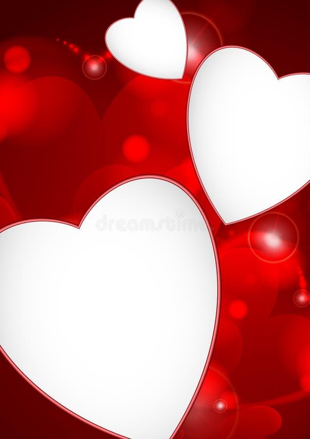 De Dag van Valentine of Huwelijksachtergrond. vector illustratie