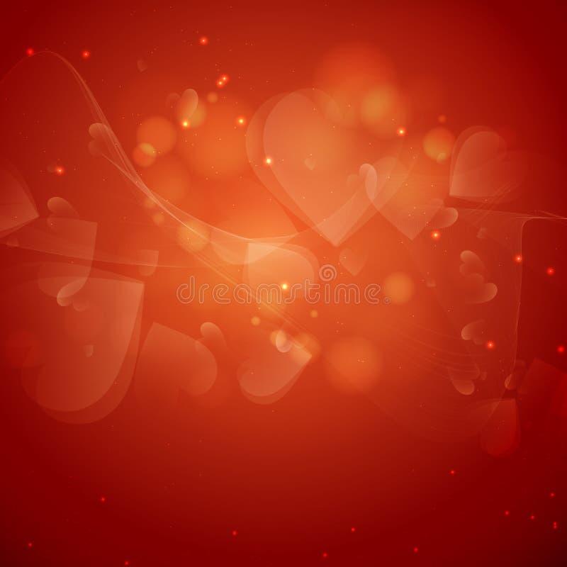 De Dag van Valentine of Huwelijksachtergrond. stock illustratie