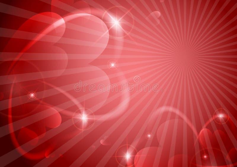 De Dag van Valentine of Huwelijksachtergrond. royalty-vrije illustratie
