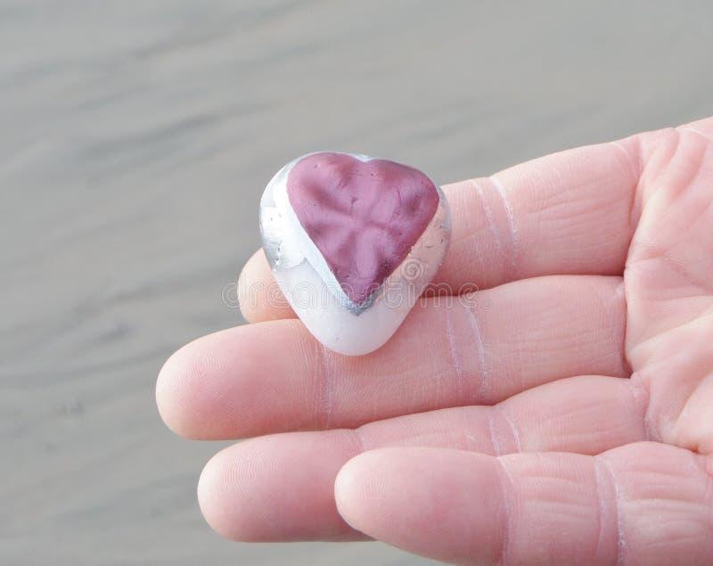 De Dag van Valentine - Mens & Hartliefdesteen royalty-vrije stock foto