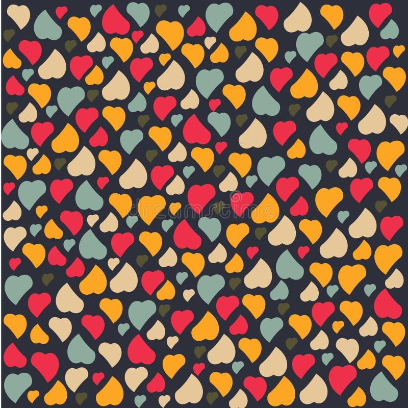 De dag van van het achtergrond liefdehart Patroonvalentijnskaarten begroet stock illustratie