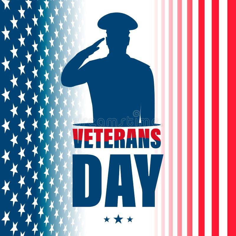 De dag van veteranen Amerikaanse traditionele patriottische vakantie vector illustratie
