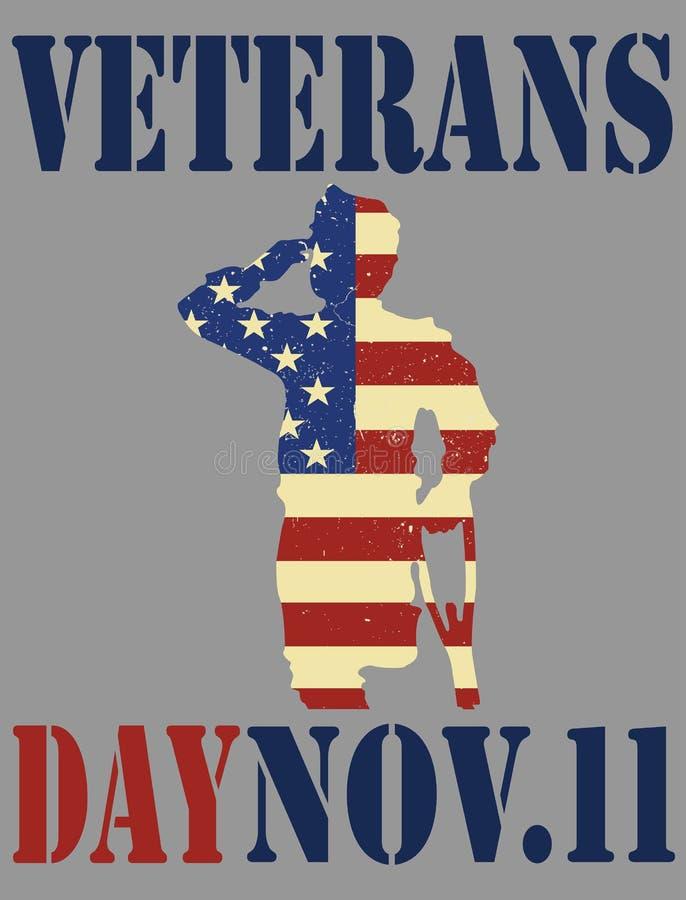 De dag van veteranen Dank u Gelukkige Veteranendag stock illustratie