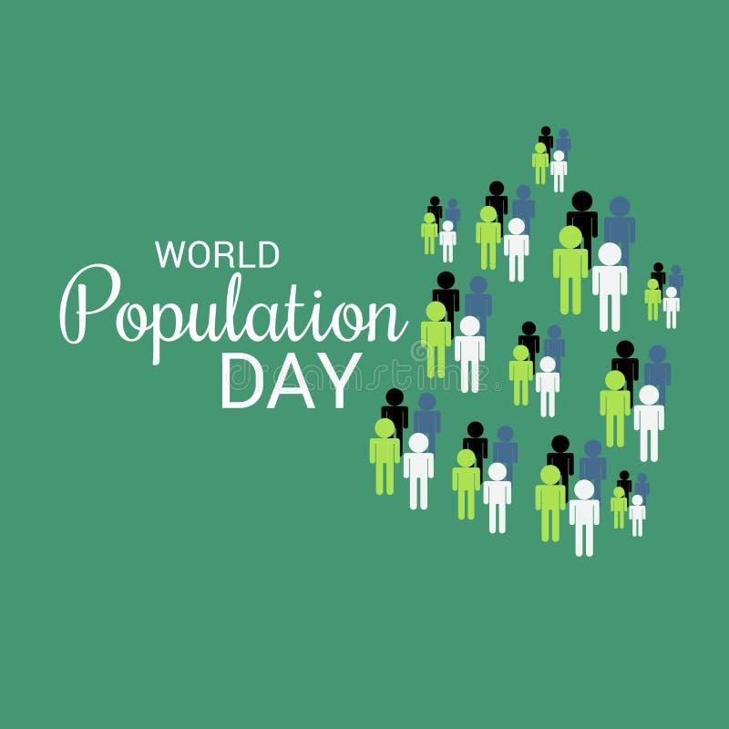 De Dag van de wereldbevolking stock illustratie