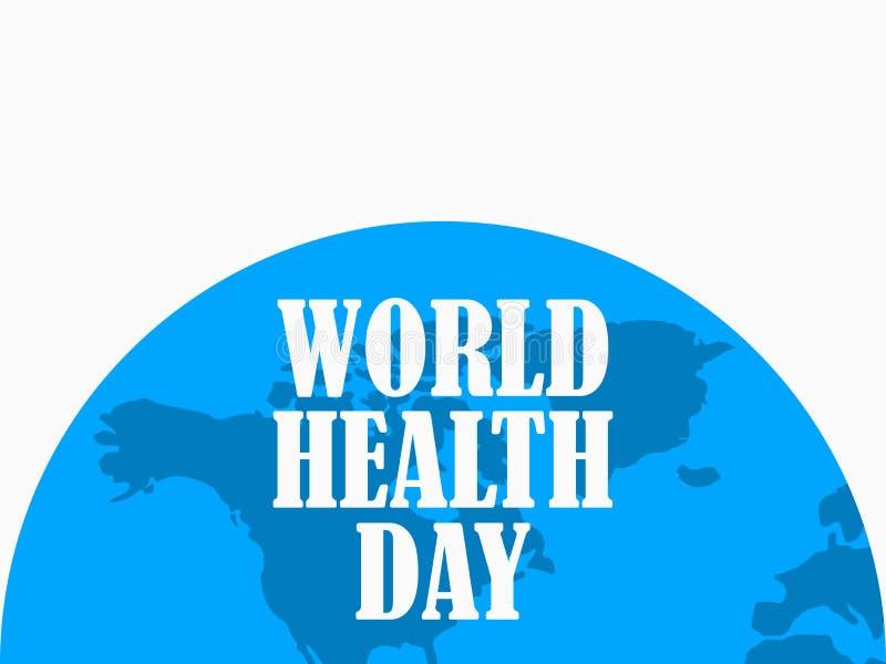 De Dag van de wereldgezondheid Is de helft van aarde blauw Vector vector illustratie