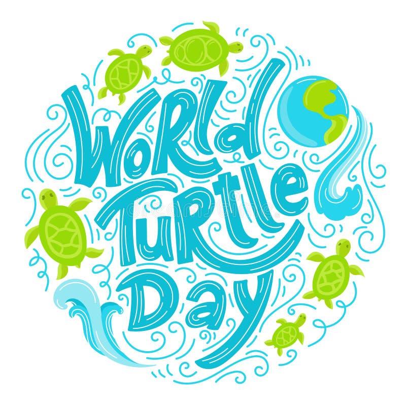 De Dag van de wereldschildpad vector illustratie