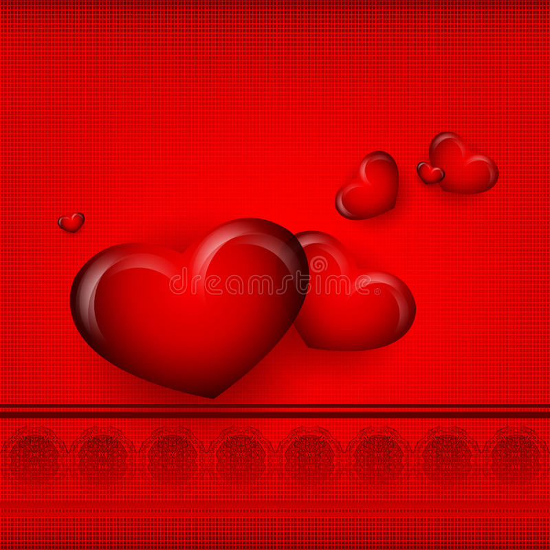 De Dag vectorachtergrond van Valentine royalty-vrije illustratie
