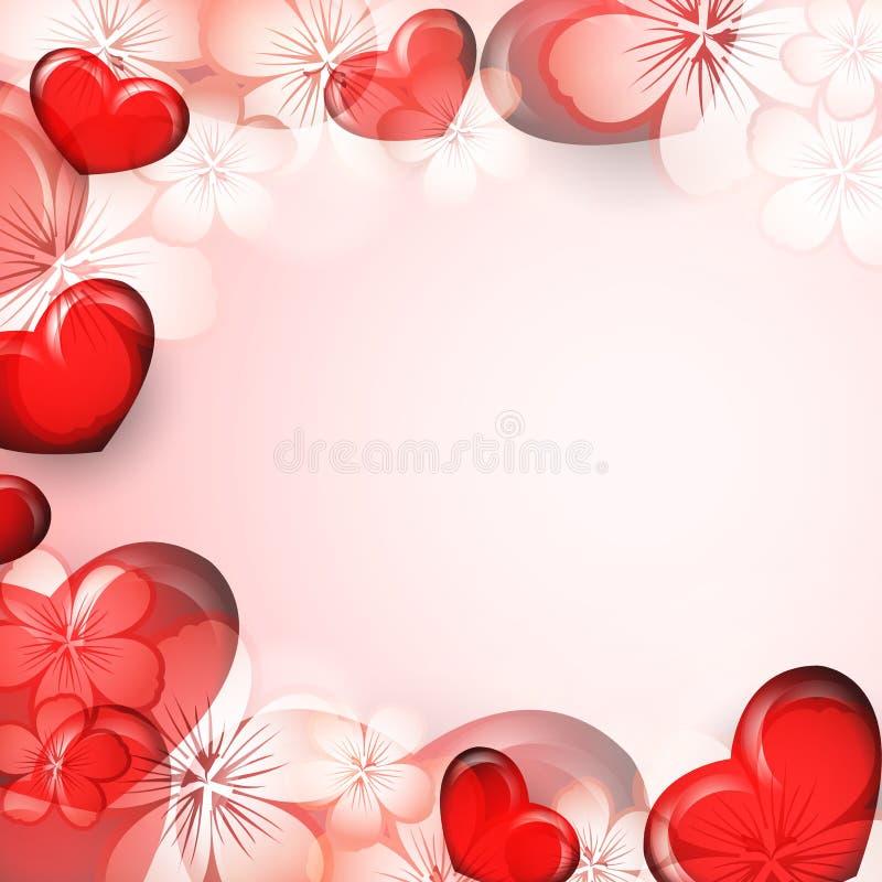 De Dag vectorachtergrond van Valentine vector illustratie