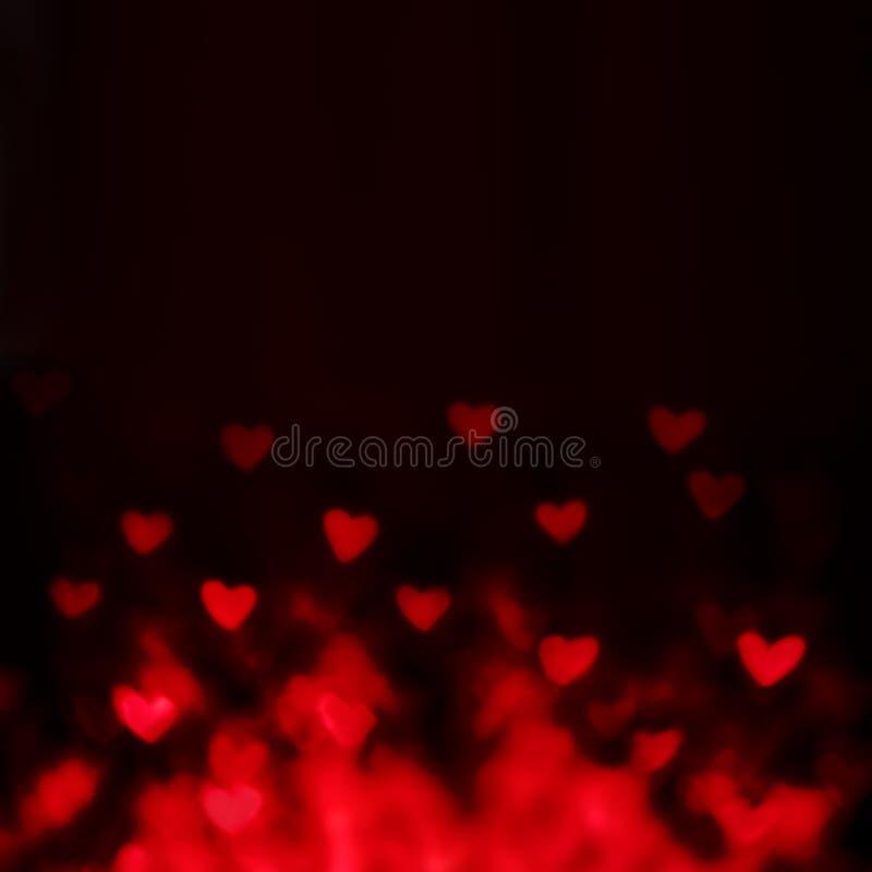 De dagachtergrond van abstract Valentine met rode harten stock fotografie