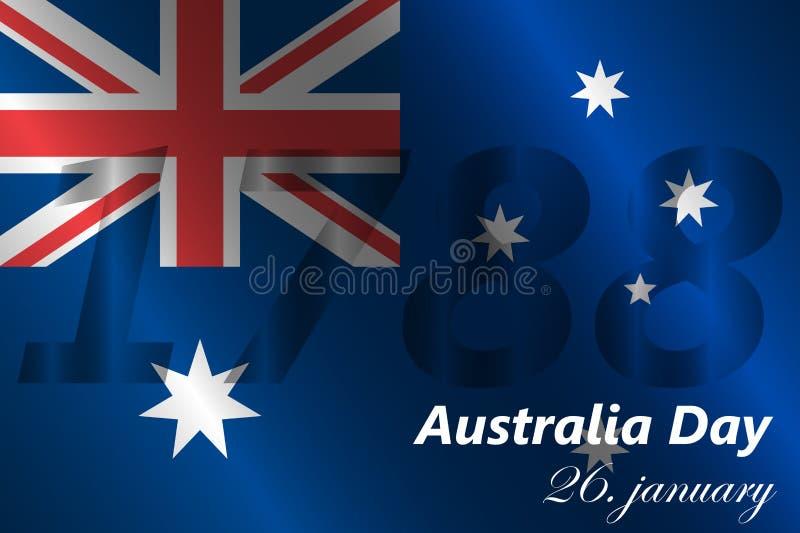 De dagachtergrond van Australië stock illustratie