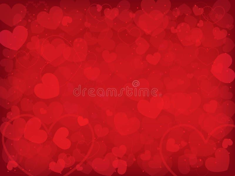 De dagachtergrond van de valentijnskaart met harten vector illustratie