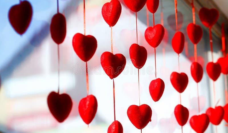 De dagachtergrond van de valentijnskaart met harten Valentine Heart stock afbeeldingen