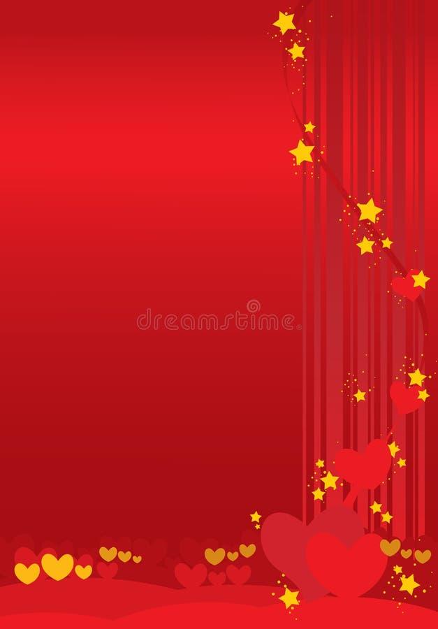 De dagachtergrond van valentijnskaarten vector illustratie