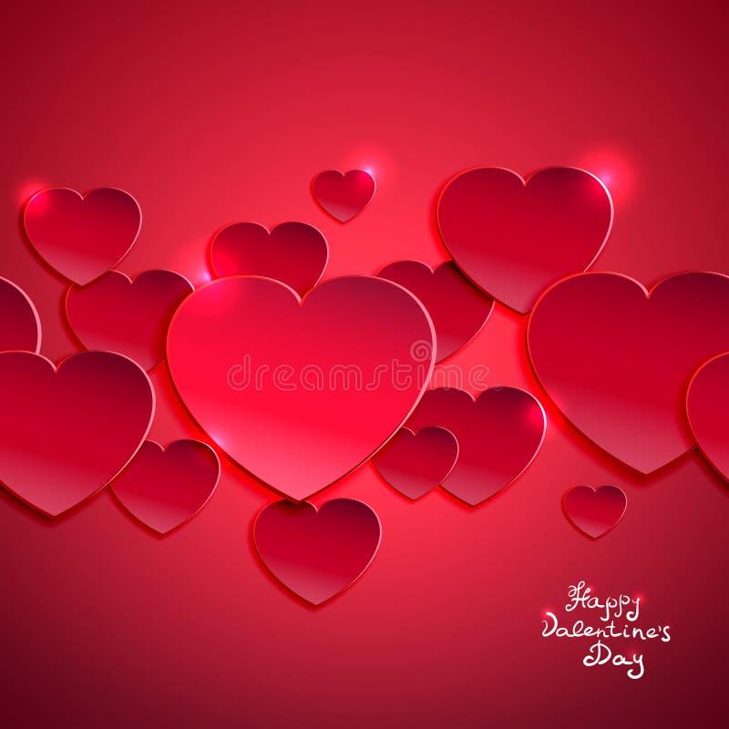 De dagachtergrond van Valentine ` s royalty-vrije illustratie