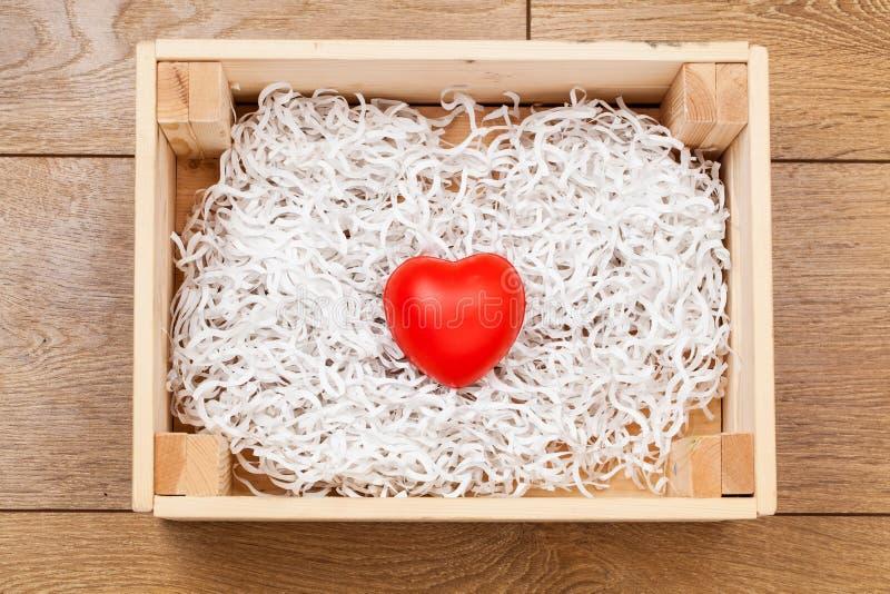 De dagachtergrond van Valentine ` s, Giftdoos royalty-vrije stock foto's