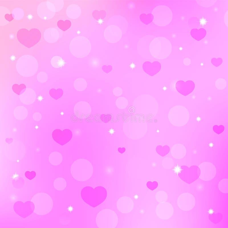 De dagachtergrond van Valentine ` s met harten vector illustratie