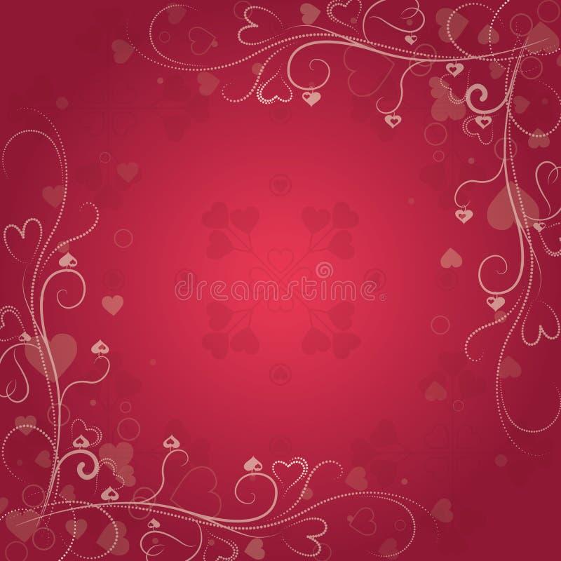 De dagachtergrond van Valentine ` s met harten - Vectorillustratie vector illustratie