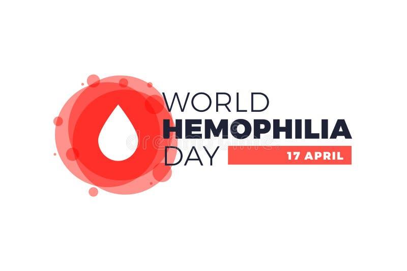 De Dagaffiche van de hemofiliewereld Embleem medisch teken voor 17 april royalty-vrije illustratie