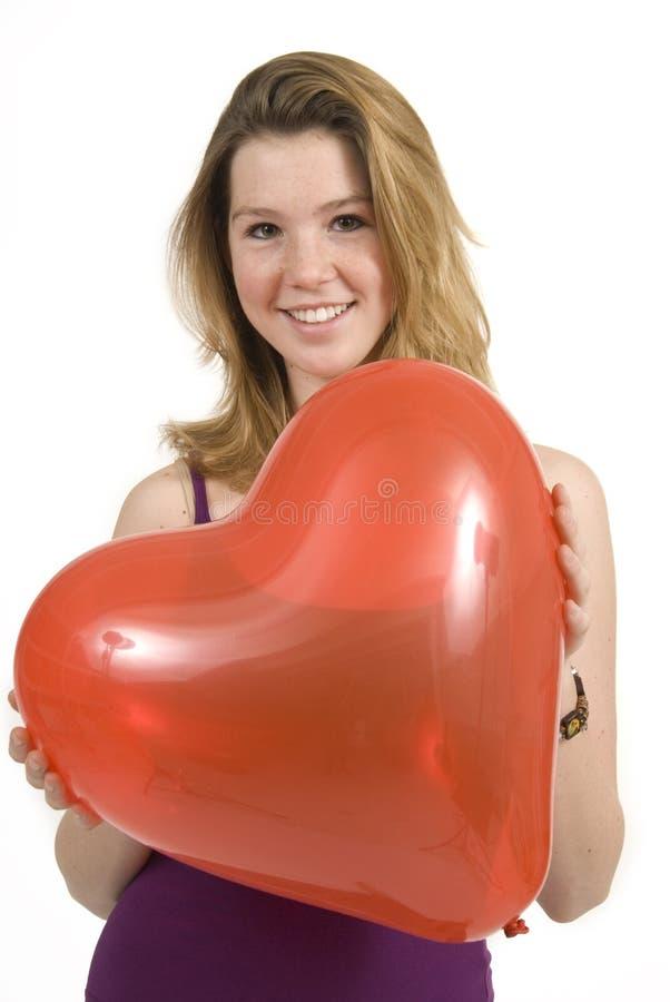 De dagballon van de valentijnskaart royalty-vrije stock foto's