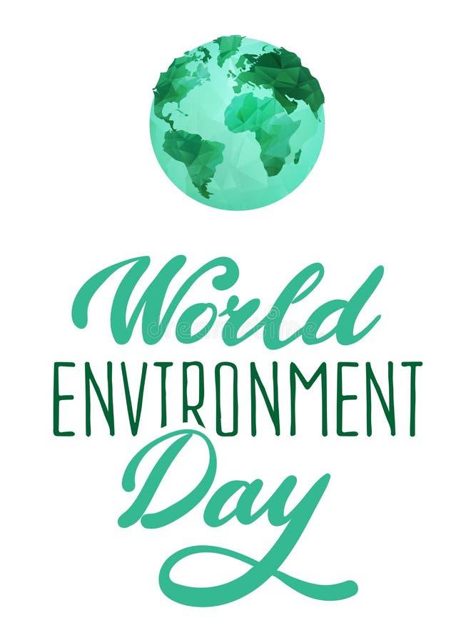 De dagconcept van het wereldmilieu vector illustratie