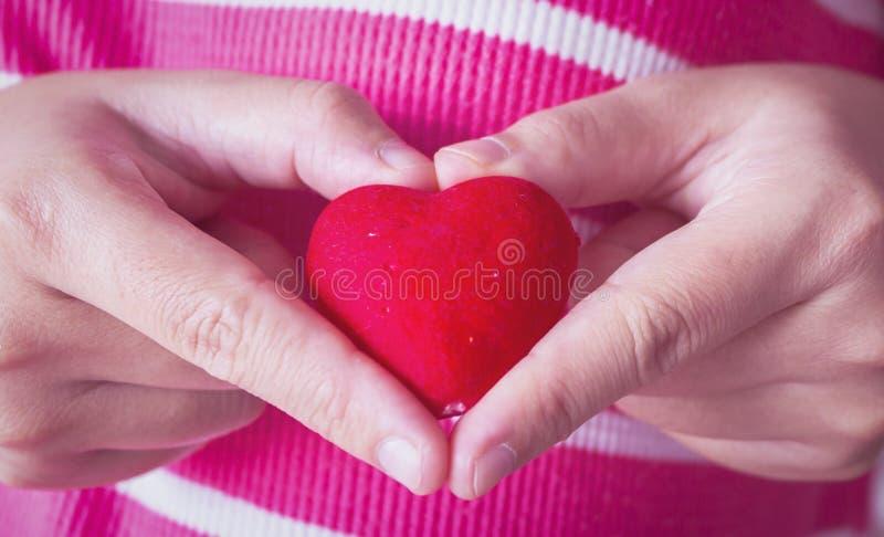 De Dagconcept van Valentine: Wereldhart stock afbeelding