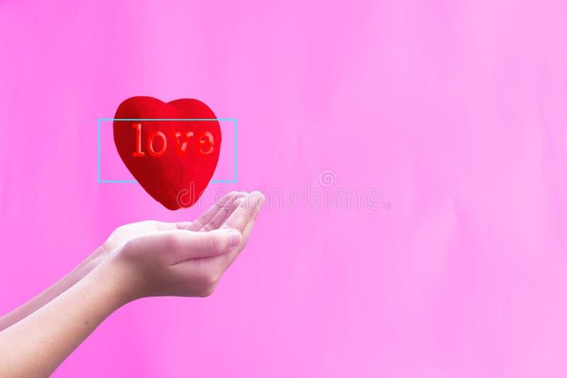 De Dagconcept van Valentine: Wereldhart stock foto's