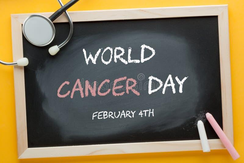 De Dagconcept van wereldkanker stock foto