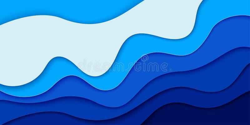 De Dagdocument van wereldoceanen art. stock illustratie