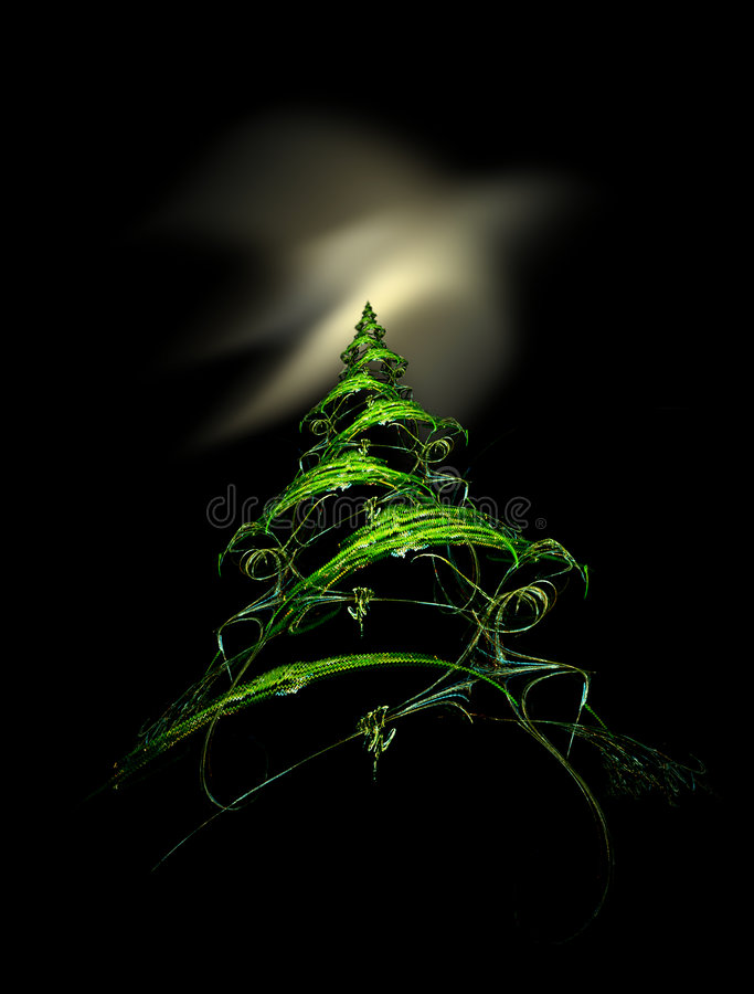 De Dageraad van de kerstboom royalty-vrije illustratie