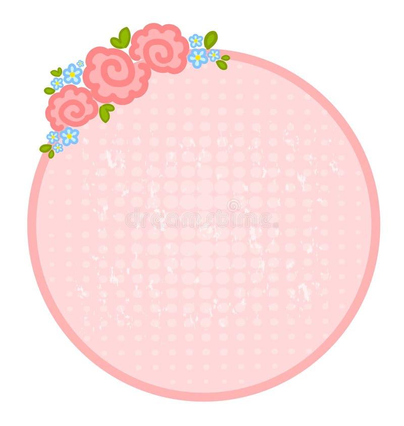 De dagframe van de valentijnskaart `s met bloemen voor ontwerp royalty-vrije illustratie