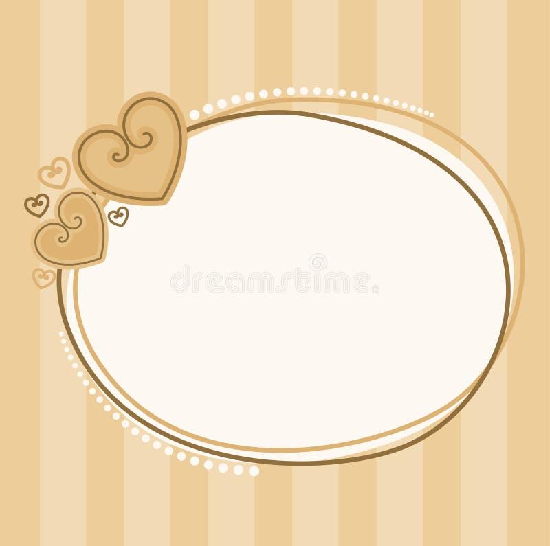 De dagframe van de valentijnskaart `s met harten voor ontwerp stock illustratie