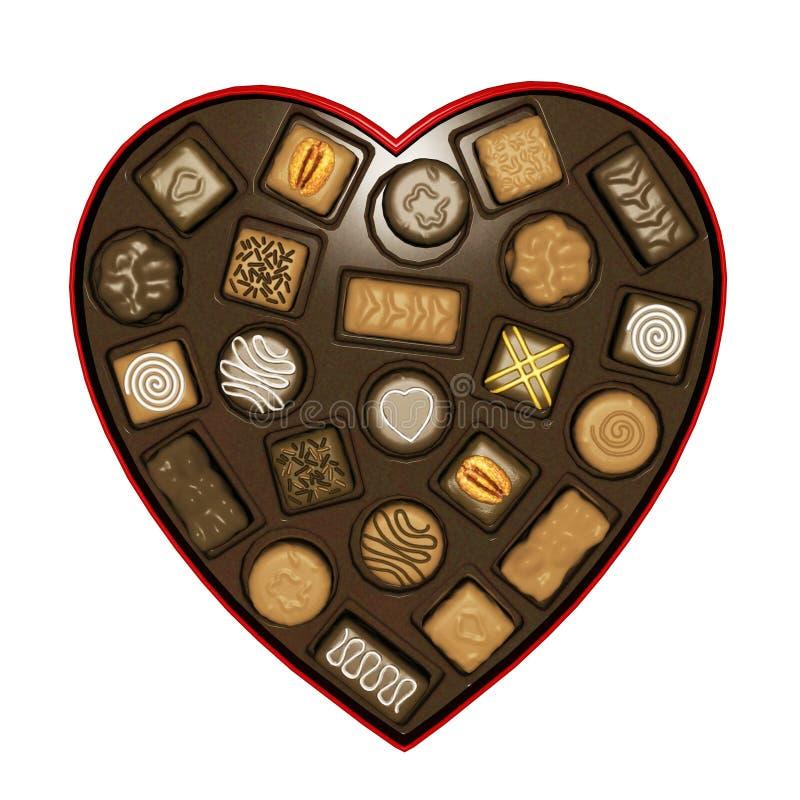 De daghart van de valentijnskaart stock illustratie