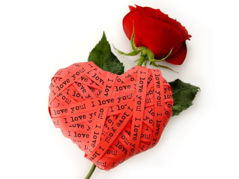 De dagHart van de valentijnskaart royalty-vrije stock foto