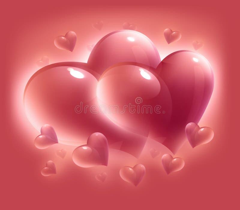 De dagharten van de valentijnskaart vector illustratie