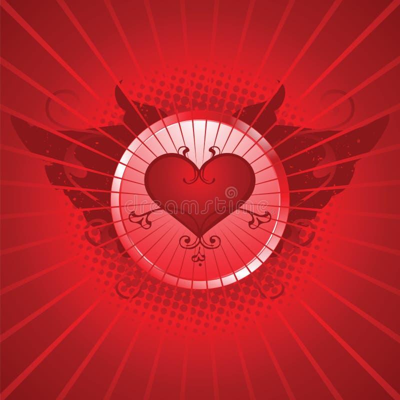 De dagillustratie van de valentijnskaart royalty-vrije illustratie