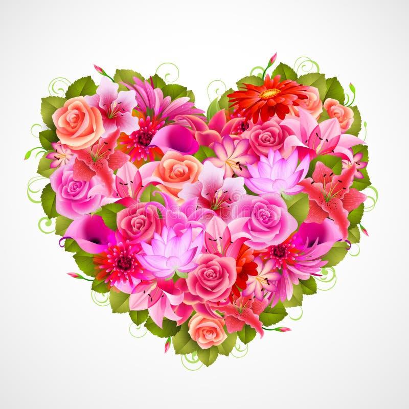 De dagillustratie van de valentijnskaart `s stock illustratie